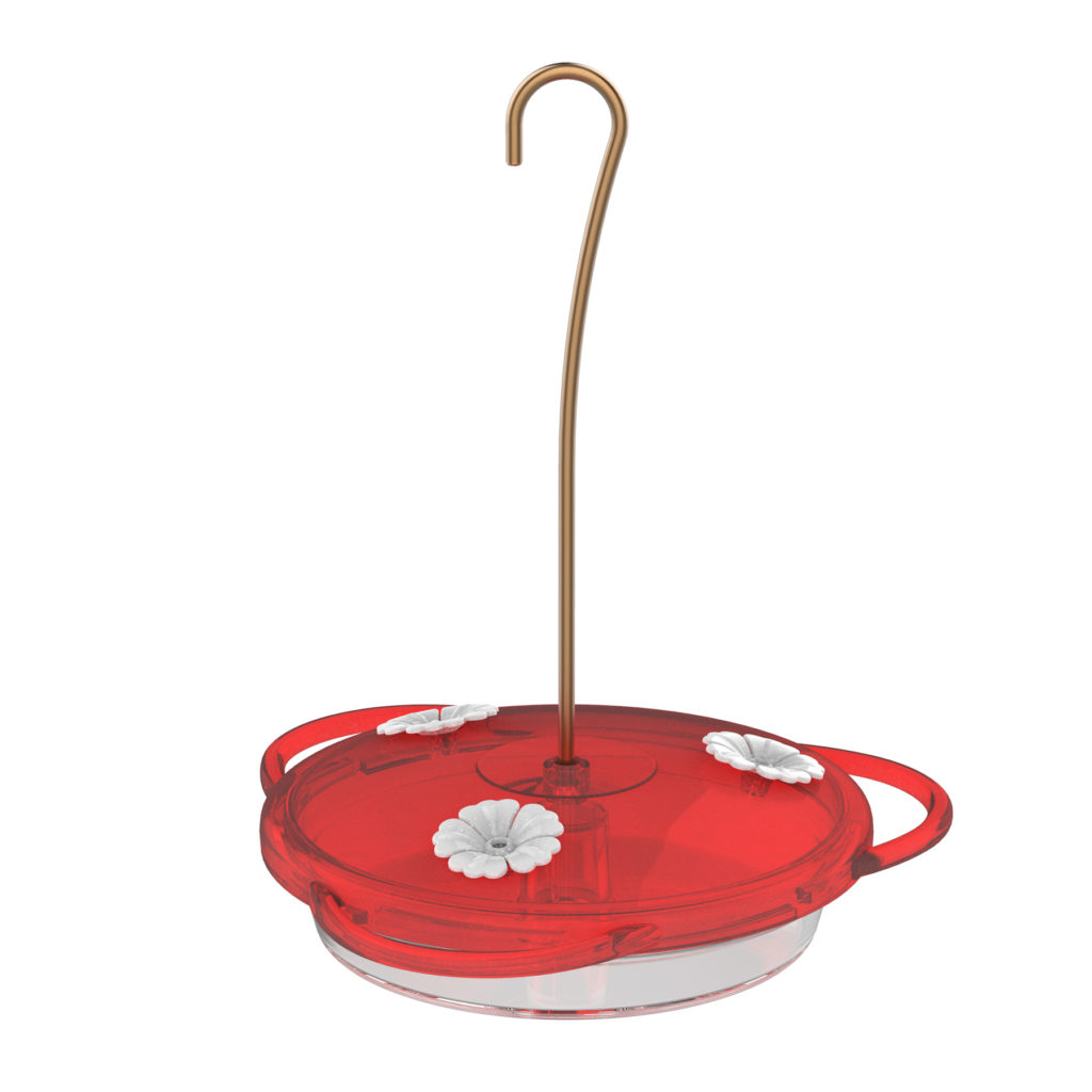 3-in-1 hummingbird feeder white flowers