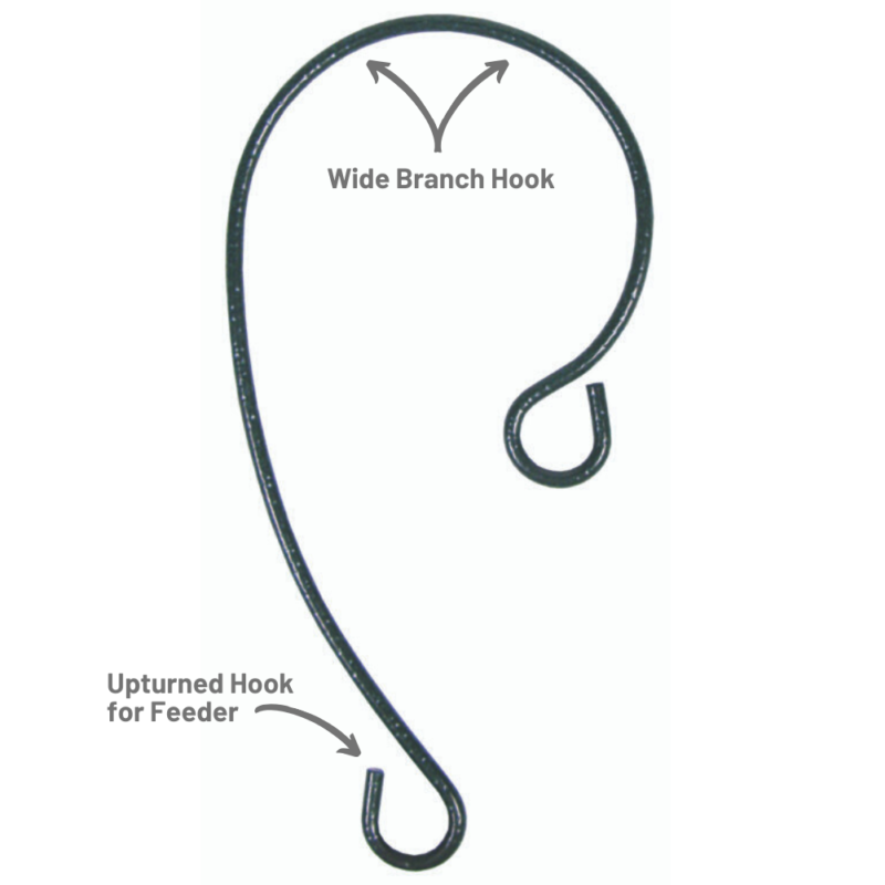 Stokes Select 9 inch Branch Hook wide branch hook upturned hook for bird feeder