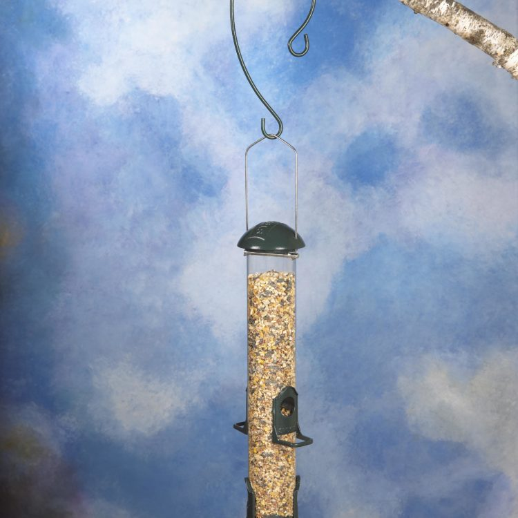 feeder hanging from Stokes Select 9 inch Branch Hook