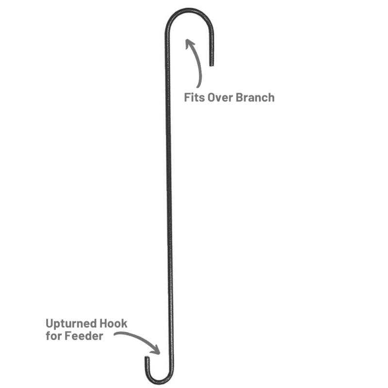 Stokes Select 18 inch Extension Hook fits over tree branches, upturned hook for bird feeder