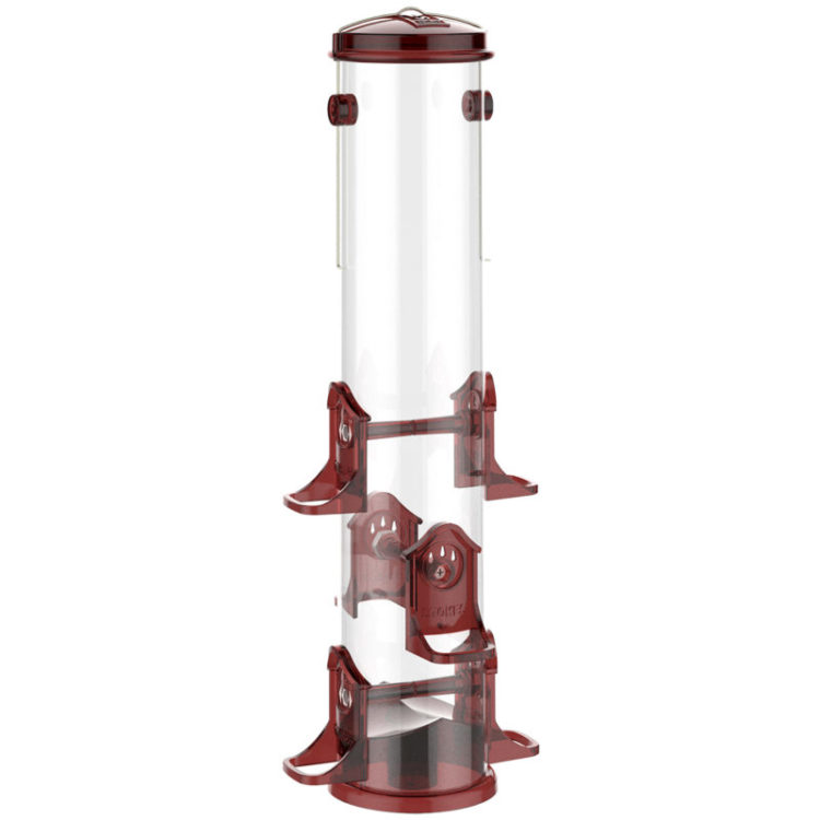 Stokes Select jumbo finch feeder red