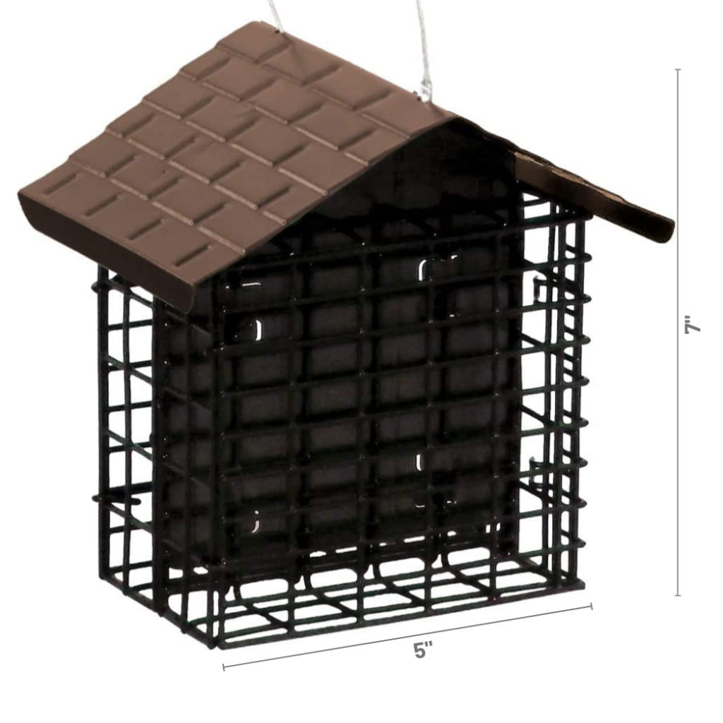 Stokes Select Two Cake Suet Buffet with Weather Guard dimensions