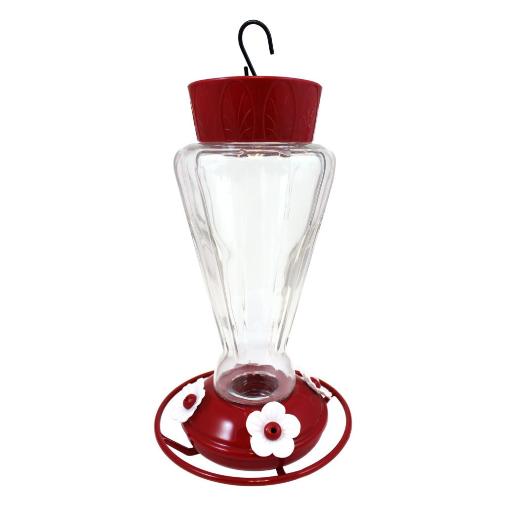 Royal Hummingbird Feeder white flowers
