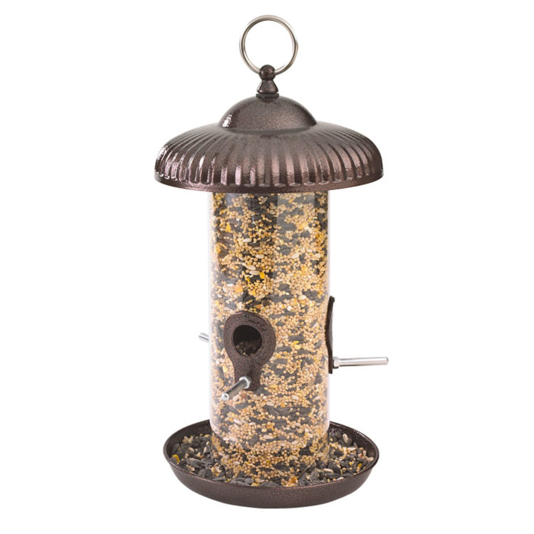 Stokes Select prairie seed feeder filled with bird seed