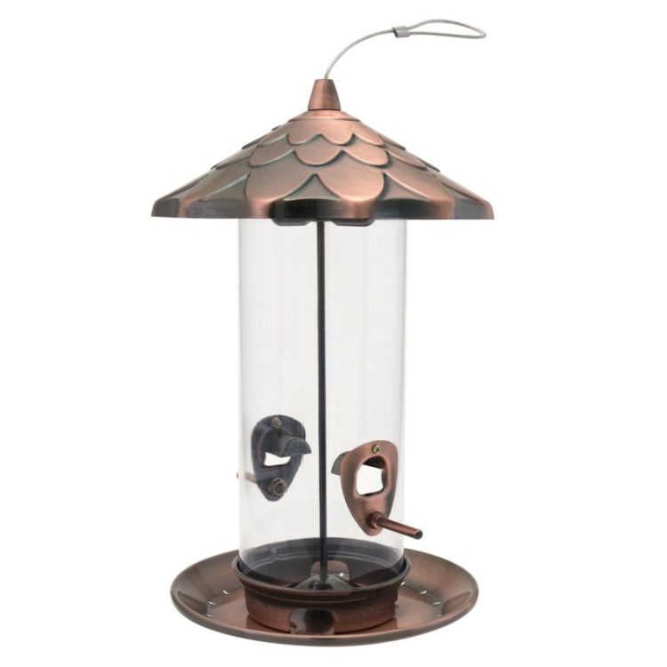 Stokes Select copper acorn seed feeder