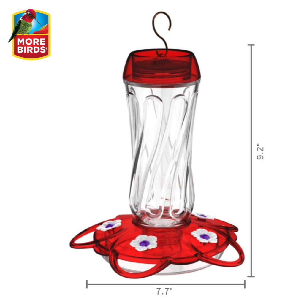 More Birds Orion Hummingbird Feeder dimensions