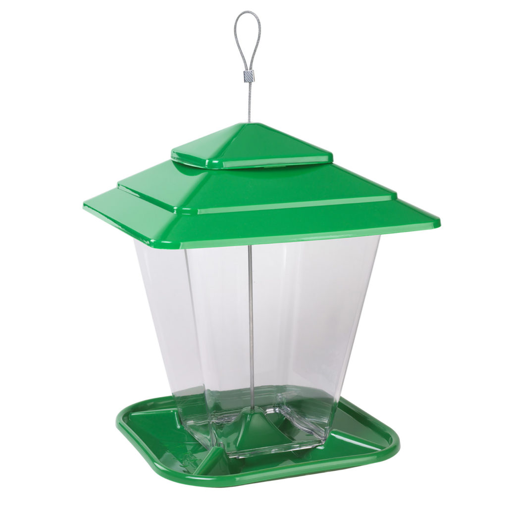 Stokes Select square seed feeder green