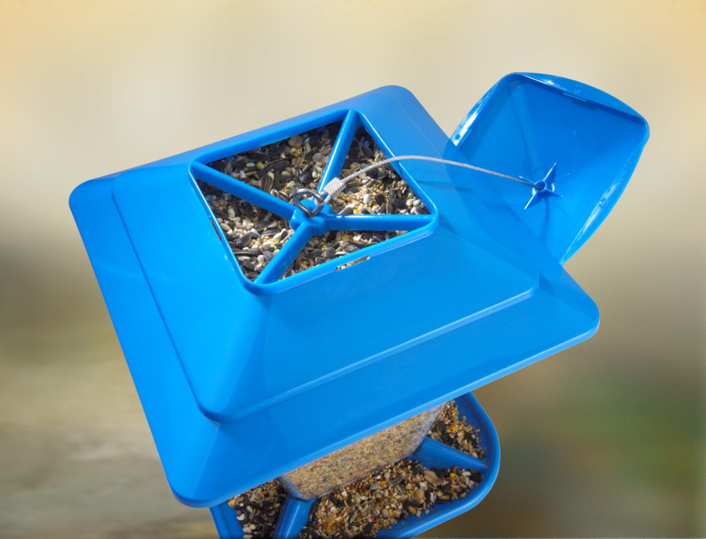Stokes Select square seed feeder opening