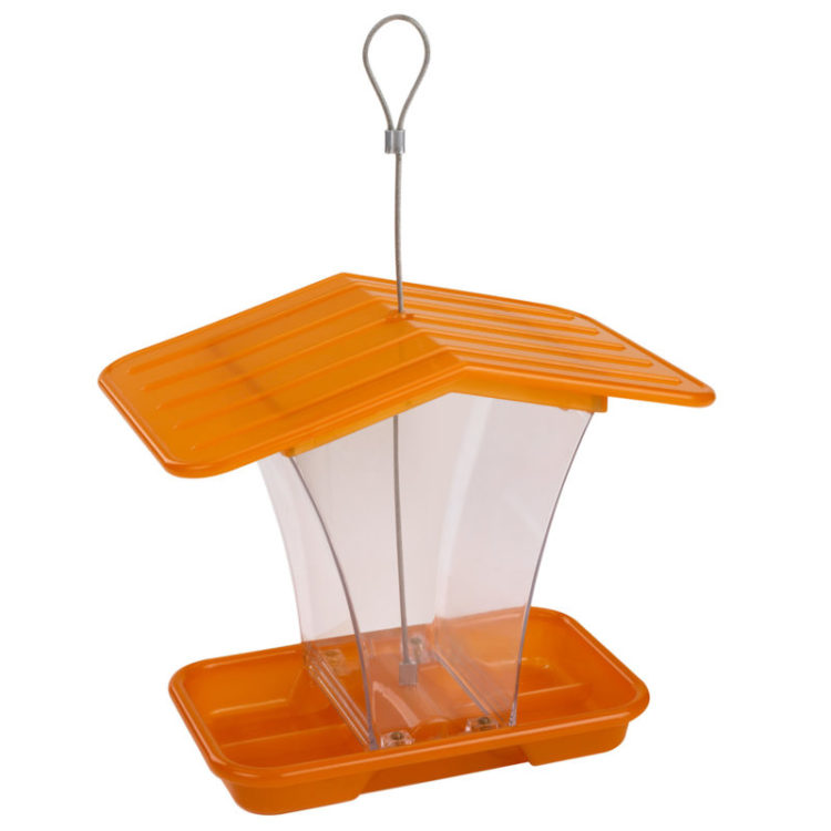 Stokes Select plastic hopper feeder orange