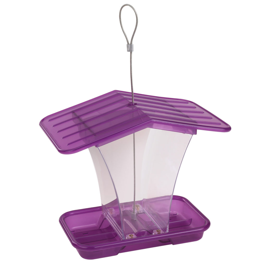 Stokes Select plastic hopper feeder purple