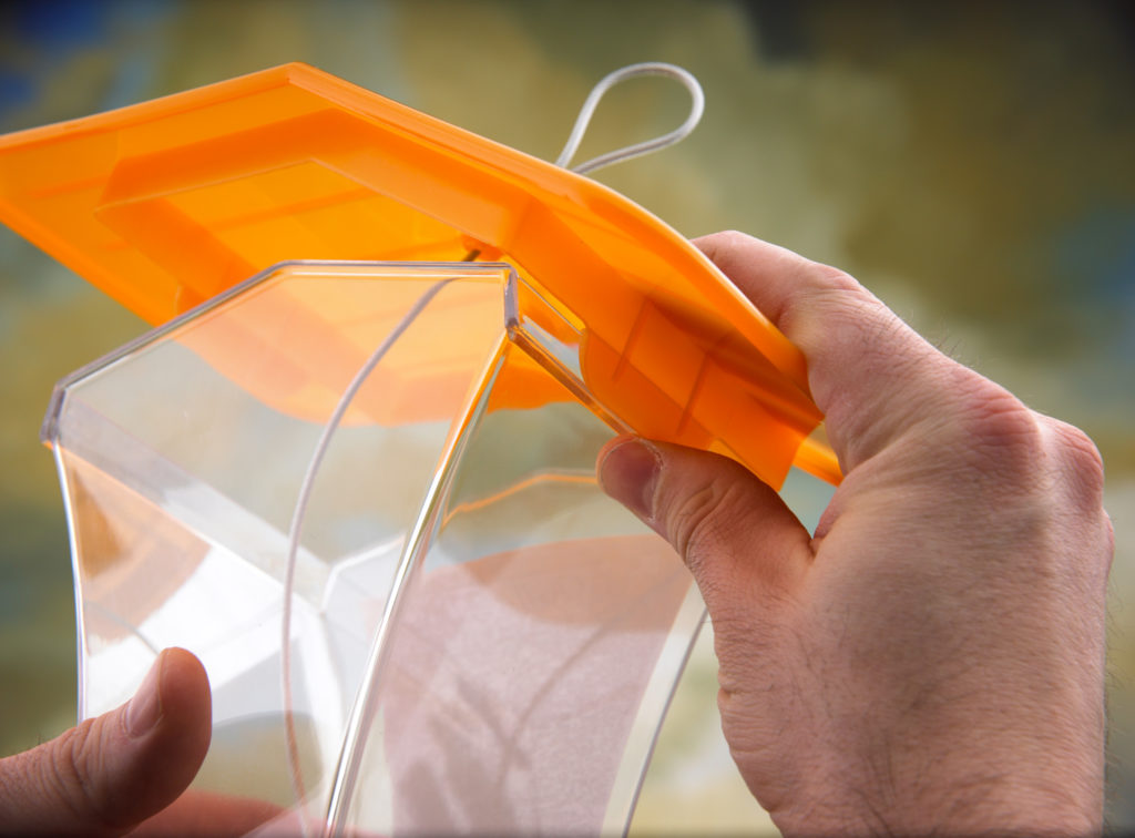 opening orange Stokes Select plastic hopper feeder