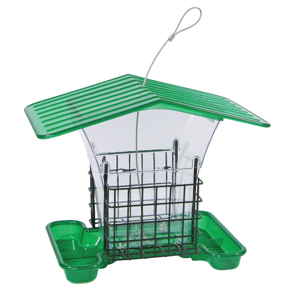 Stokes Select Large Plastic Hopper Feeder w/ Suet Cages