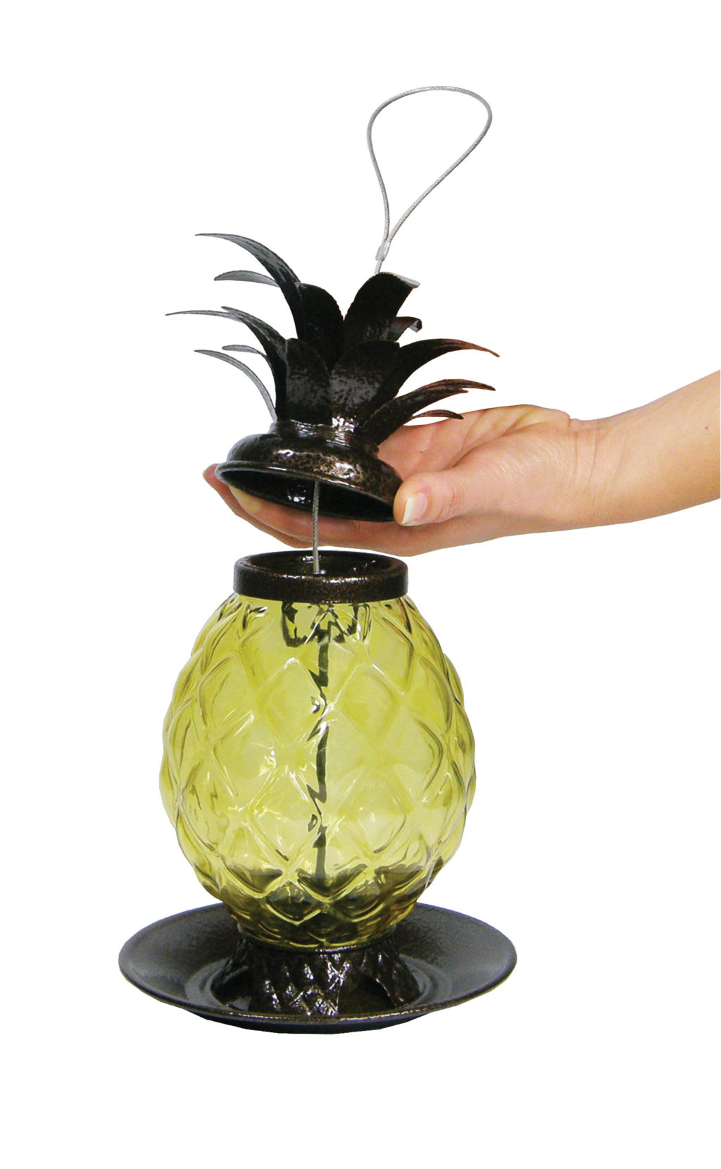 opening Stokes Select Welcome Pineapple Bird Feeder
