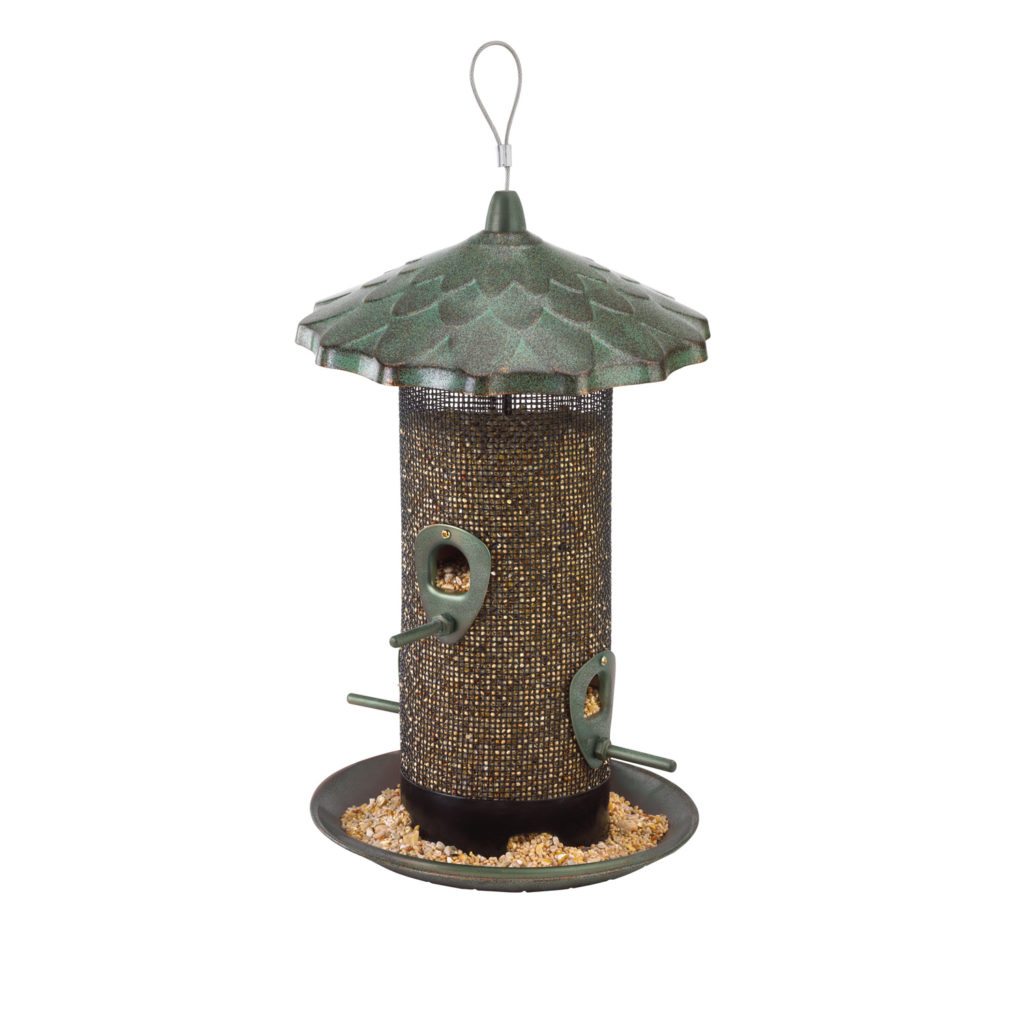 Stokes Select acorn screen bird feeder filled with bird seed