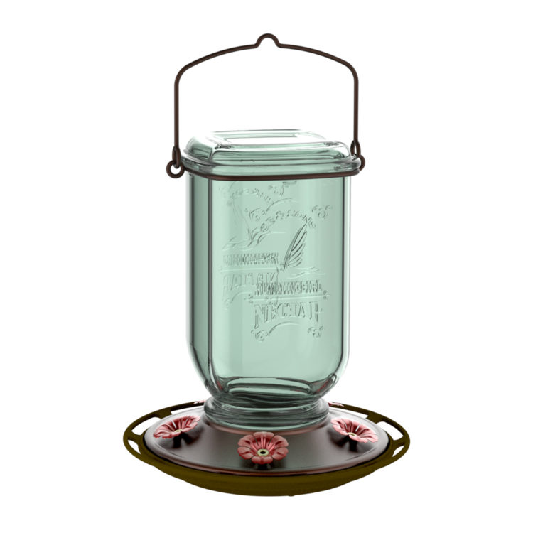 More Birds Mason Jar Hummingbird Feeder