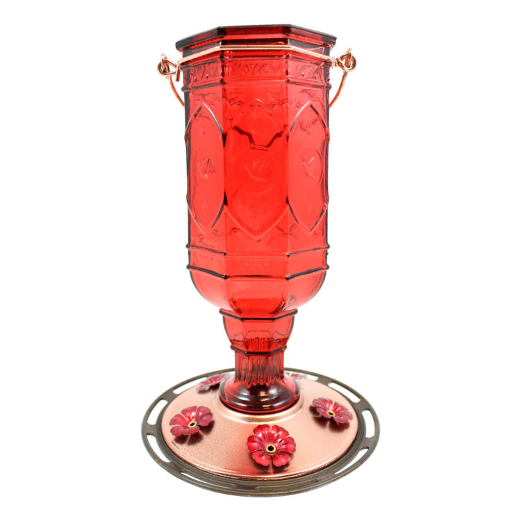 red jewel hummingbird feeder