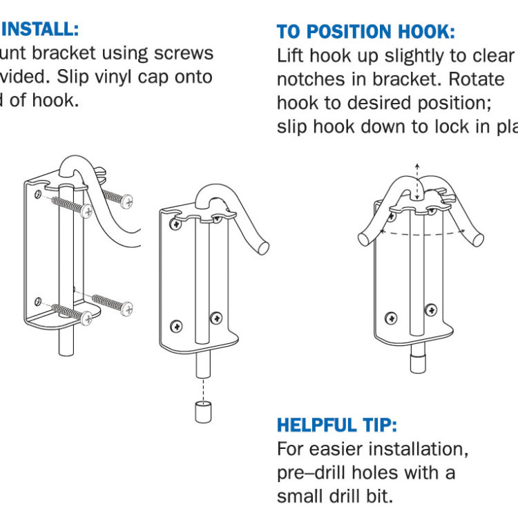 Stokes Select multi-position wall bracket instructions