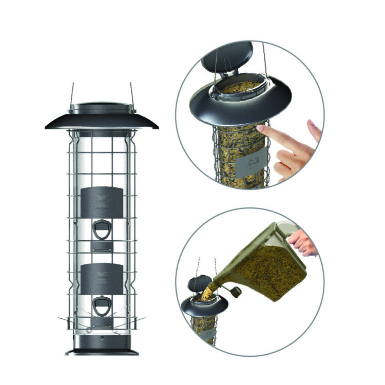 Squirrel-X easy fill squirrel-proof feeder close-up